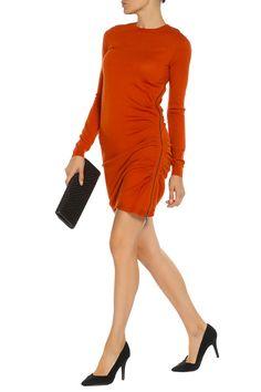 обтягивающее платье с короткой юбкой, оранжевого цвета, приталенного силуэта Dresses For Work, Fashion, Moda, Fashion Styles, Fashion Illustrations