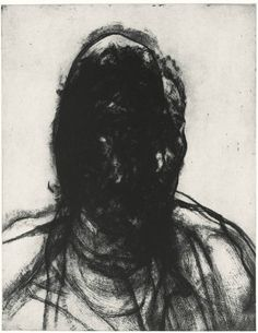 Glenn Brown - Layered Portrait (after Lucian Freud) 7 2008 Etching on paper, Somerset 300 gsm textured 37 x 29 1/2 inches (94 x 74 cm)