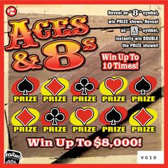aces and eights lottery ticket