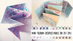 Mini álbum desplegable en zig-zag ♡ | Ojitoz Anshu