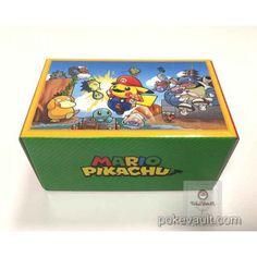 Pokemon Center 2016 Mario Pikachu Campaign Mario Pikachu Large Size Cardboard Storage Box (EMPTY)