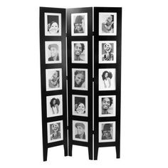 Room Divider Photo Frame Or Privacy Screen In Funny Faces Eyes Closed Wink