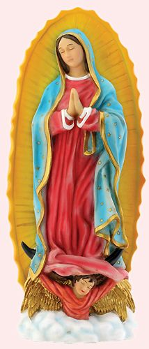 Traditional Colorful Our Lady of Guadalupe Collectible Desktop Statue Figurine $19.95