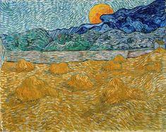 Landscape with Snow Vincent Van Gogh . Landscape with Snow Vincent Van Gogh . Vincent Van Gogh Landscape with Wheat Sheaves and Rising Vincent Van Gogh, Van Gogh Art, Art Van, Van Gogh Pinturas, Van Gogh Landscapes, Art Sculpture, Ouvrages D'art, Van Gogh Paintings, Van Gogh Museum