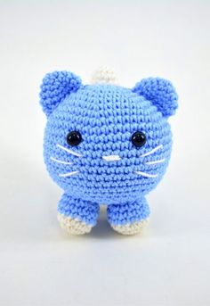 Amigurumi Do Zero Crochet Cat Pattern, Crochet Art, Crochet Patterns Amigurumi, Love Crochet, Crochet Toys, Easy Crochet Patterns, Easy Crochet Animals, Handmade Stuffed Animals, Craft Day