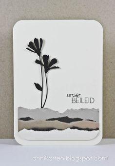 Anni-Karten: Challenge up your life # 82: Beileidskarten