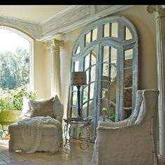 Covered patio with French doors