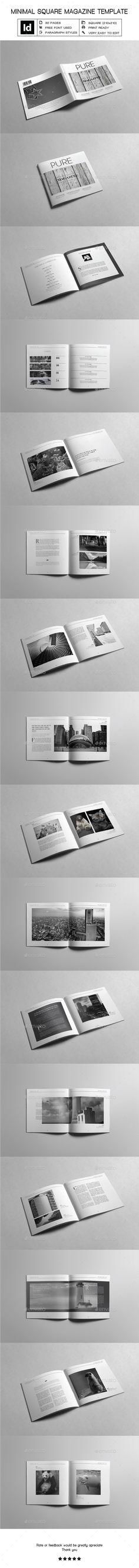 Minimal Square Magazine Template InDesign INDD V Magazine, Magazine Design, Fashion Magazine Cover, Magazine Covers, Ideas Magazine, Design Set, Print Design, Indesign Templates, Print Templates