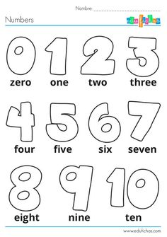 Pin by nany vico on ingles niños Numbers Preschool, Preschool Learning, Kindergarten Worksheets, Math Activities, Abc Worksheets, Kids English, English Lessons, Learn English, Learn French
