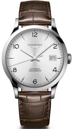 The new Longines Record watches for Baselworld 2017 with images, price, background, specs, & our expert analysis. Longines Watch Men, Longines Hydroconquest, Omega Seamaster Planet Ocean, Burberry Men, Gucci Men, Calvin Klein Men, Luxury Watches For Men, Dark Brown Leather, Loafers Men