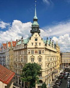 - style: Neo-Gothic with Art Nouveau elements. Art Nouveau Furniture, Prague Castle, Old Town Square, Vaulted Ceilings, Prague Czech, Paris Hotels, Beautiful Hotels, Smoking Room, Best Location
