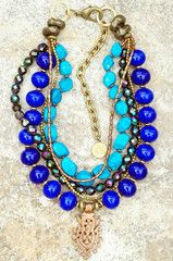 Necklace | Cobalt | Turquoise | African | Copper | Cross | XO Gallery | XO Gallery