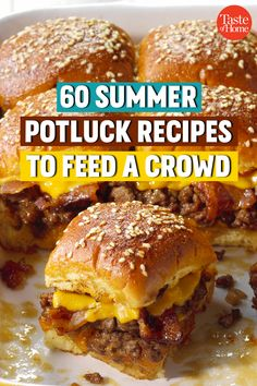 60 Summer Potluck Recipes to Feed a Crowd Grab a plate and get ready to dig into these tasty potluck favorites. Our recipes for big-batch pasta salads, crowd-pleasing brats and shareable desserts are sure to be a hit at your next summer shindig. Best Potluck Dishes, Church Potluck Recipes, Main Dish For Potluck, Potluck Ideas, Food For Potluck, Easy Potluck Recipes, Dinner Party Recipes, Cooking For A Crowd, Food For A Crowd