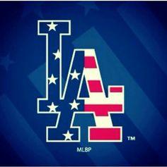 LA Dodgers Dodgers Gear, Dodgers Baseball, Dodgers Party, Baseball Wall, Mlb Team Logos, Mlb Teams, La Sign, Dodger Game, Go Blue