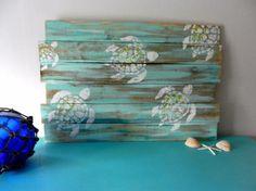 Meeresschildkröten Palette Kunst Zaun Kunst Meer Reclaimed