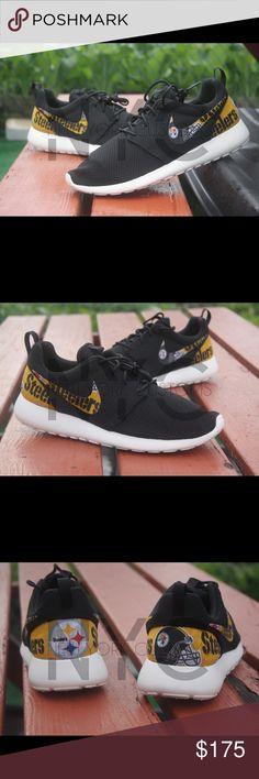 bc91732f0de8 Pittsburgh Steelers Nike Roshe One Custom Men