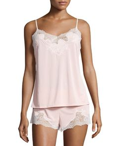 Enchant+Lace-Trimmed+Nightie+Set,+Dusty+Deco+Pink+by+Natori+at+Neiman+Marcus.