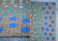 Polka dot door mat
