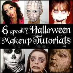 6 scary cool DIY Halloween Makeup Video Tutorials. Not as hard as they look!!