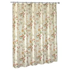 Add a lovely touch to your master bath or guest suite with this charming shower curtain, showcasing a multicolor botanical-inspired motif.