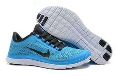 Womens - Nike Free 3.0 V5 Peacock Blue Black