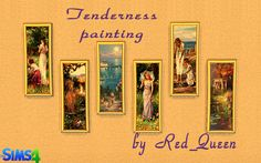 Tenderness Painting by Red_Queen at ihelensims via Sims 4 Updates  Check more at http://sims4updates.net/objects/decor/tenderness-painting-by-red_queen-at-ihelensims/