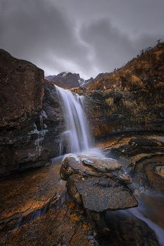 Blaven gloom (Blaven Waterfall, Isle of Skye, Scotland) by Louis Neville on 500px