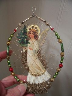 a large number of hand crafted, vintage, and special merchandise and items regarding your desired look. Vintage Christmas Crafts, Victorian Christmas Ornaments, Christmas Ornaments To Make, Antique Christmas, Vintage Ornaments, Retro Christmas, Christmas Projects, Christmas Art, Handmade Christmas