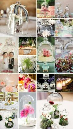 Wedding Bell Jars - a decor element that's simply too romantic, whimsical and fairytale-like for words! Wedding Fayre, Vintage Wedding Theme, Gold Wedding, Wedding Ceremony, Glass Dome Display, Glass Domes, Plan My Wedding, Wedding Blog, Dream Wedding