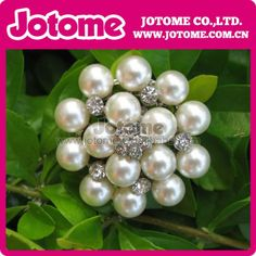 Free Shipping!100pcs lot flower metal rhinestone pearl embellishment button  factory price Super Quality US  119.70 01a268486b17