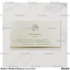 Realtor   Modern Home Business Card