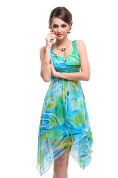 weddingstuffyouwant.unlimitedproductsolutions.com Striking flower printed empire beach summer dress.
