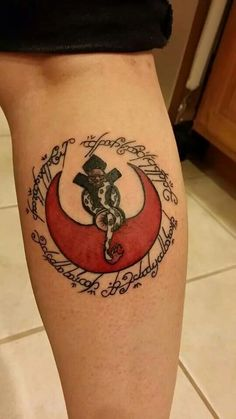 Star Wars, Lord of the Rings and Harry Potter tattoo