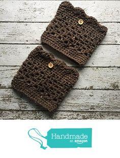 Aran Brown Boot Cuffs Crochet Tweed Button Scallop Leg Warmers Handmade from MoomettesMagnificents https://www.amazon.com/dp/B01LYDK98O/ref=hnd_sw_r_pi_dp_5ey8xbCQB3E54 #handmadeatamazon