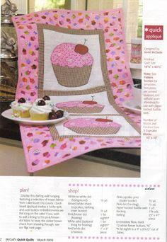 Balaio da Rose: Quilt cupcake