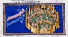The Empyrean - Dante Alighieri TitleDivina Commedia OriginItaly, N. (Tuscany, Siena?) Datebetween 1444 and c. 1450 LanguageItalian    http://www.bl.uk/catalogues/illuminatedmanuscripts/record.asp?MSID=6468&CollID=58&NStart=36