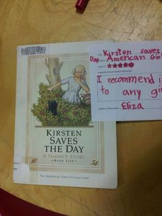 """Kirsten Saves the Day by American Girl  5 stars-- """"I recommend it to any girl."""" -Eliza"""