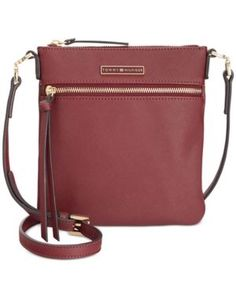 Tommy Hilfiger Naomi Saffiano Crossbody - Red