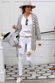 Bloggers and celebs sport the best all white outfits for you to cop this summer: Alessandra Ambrosio.