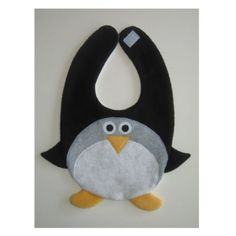 Penguin Bib by DinkyDimples on Etsy, $20.00