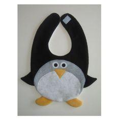 Pingouin Bib / infantile bébé Bavoir / Animal par DinkyDimples