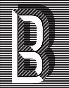 letter B - Typographic Posters: Pawaiian Hunch by Ruth Vissing Photo. Cool Typography, Typography Letters, Graphic Design Typography, Lettering Design, Graphic Design Illustration, Japanese Typography, Typography Images, Inspiration Typographie, Typography Inspiration