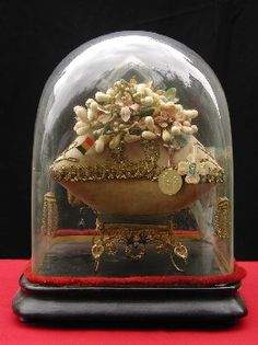 Glass Bell Jar, The Bell Jar, Bell Jars, Glass Globe, Glass Domes, Wax Flowers, Found Art, Bridal Crown, French Wedding