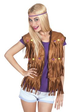 Hippie jacket for women  This sleeveless jacket is for adult women. It is  made 82cc36ddd0741