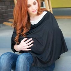 DIY Modern Nursing Shaw {Nursing} If you are a nursing mom or going to be one, check out this modern nursing cover tutorial! So stylish that you can rock it even when your baby isn't nursing! Plus it's a pattern even a sewing beginner could handle!
