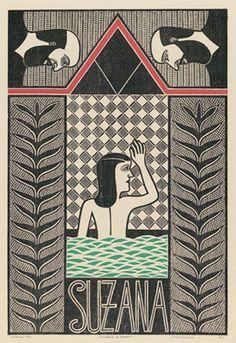 Suzana no banho - Gilvan Samico