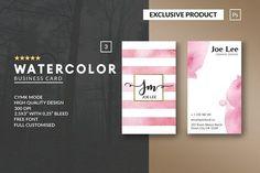 Business Card Templates: John Wayk Co. - Personal Watercolor Business Card