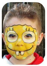 Maquillaje para niños de Bob Esponja