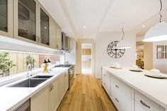 Villa Grande - Simonds Homes Simonds Homes, Kit Homes, Home Kitchens, Sink, Villa, Kitchen Cabinets, House Design, Windows, Flooring