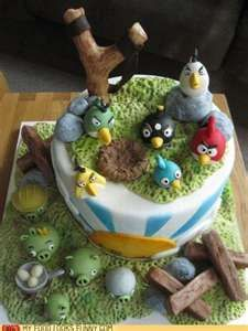 Angry Birds Cake my nephews want an angry bird cake so im looking at options